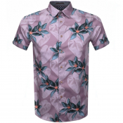 Ted Baker Short Sleeved Myles Shirt Pink